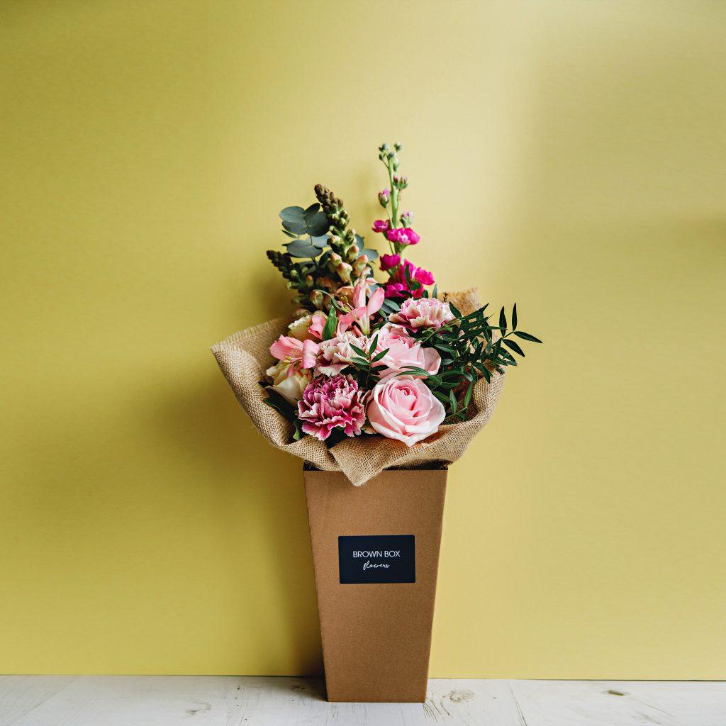 Brown Box Flowers Original Yellow