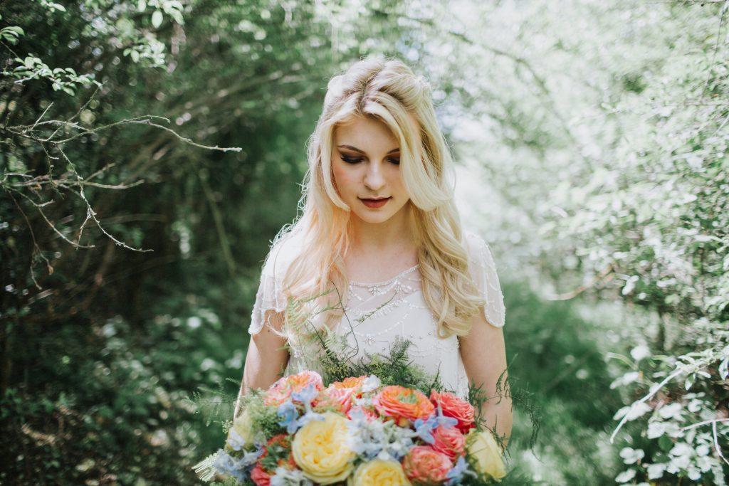 Bride and bouquet nadia Di Tullio Flowers