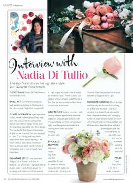 Nadia in the press Nadia Di Tullio Flowers