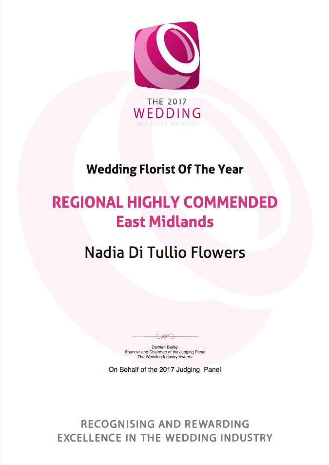 Kudos Nadia Di Tullio Highly Commended certificate 2017