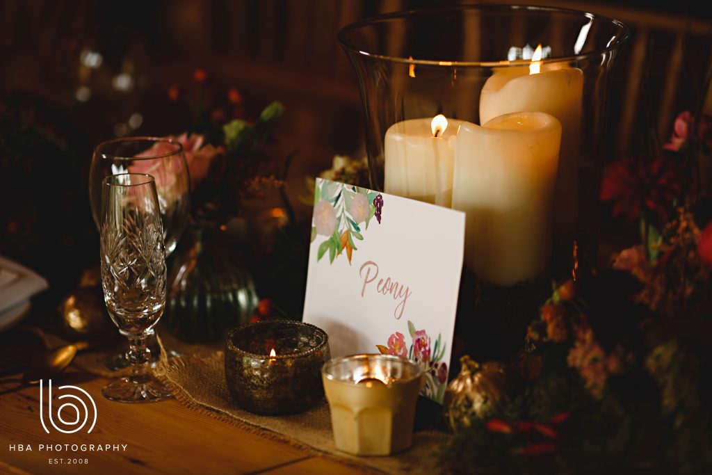 Stationary and candle light