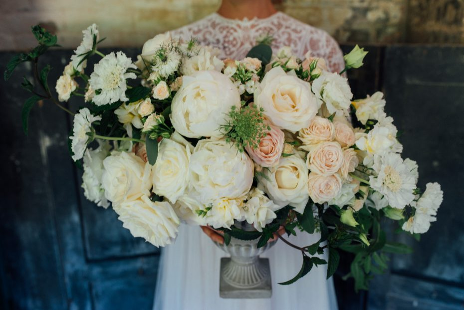 Rose and peony urn