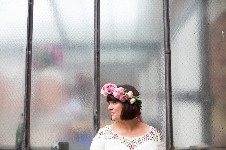 Flower crown at Orchard Farm