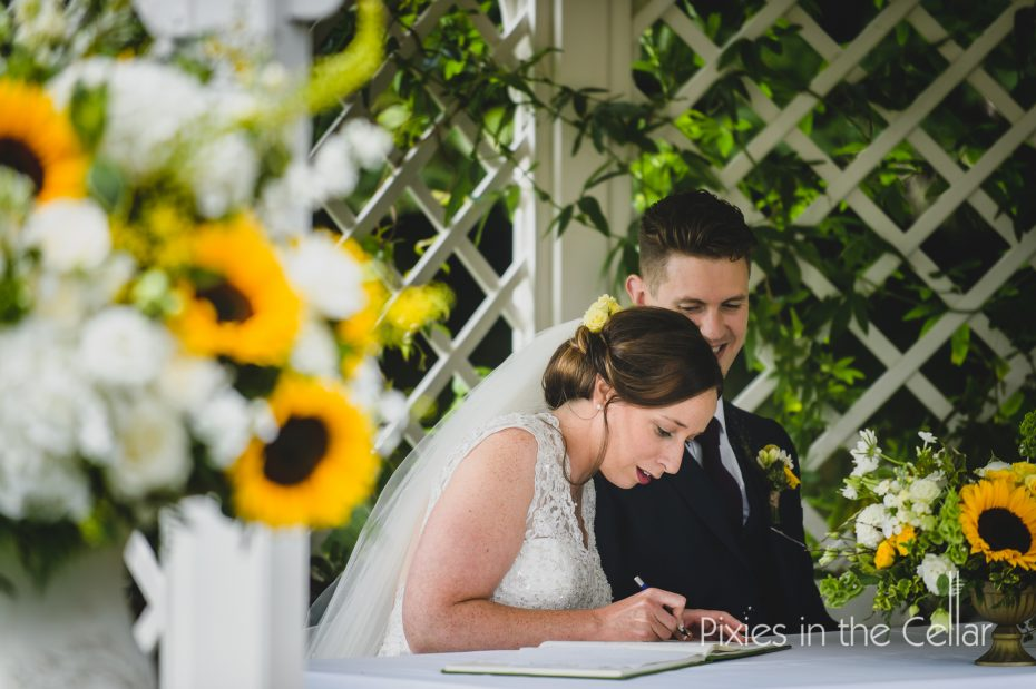 Signing the register Prestwold Hall