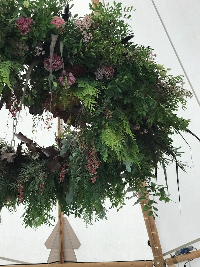 Hanging designs at Nadia Di Tullio Flowers