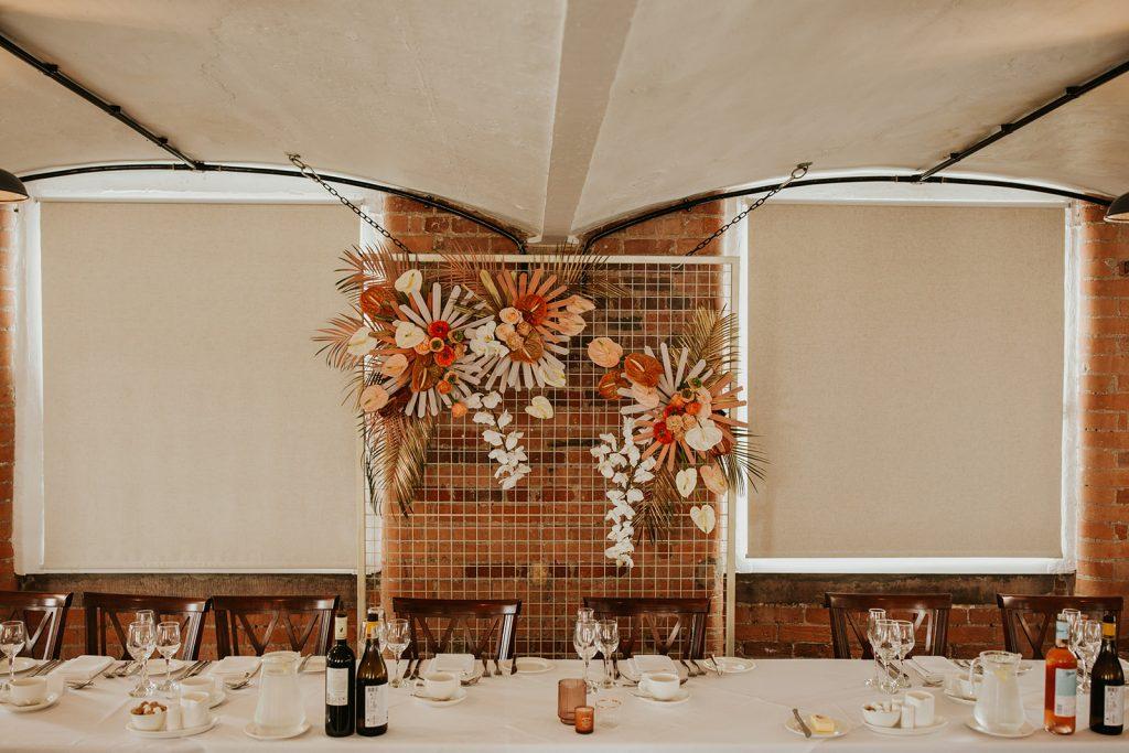 terracotta wedding flowers