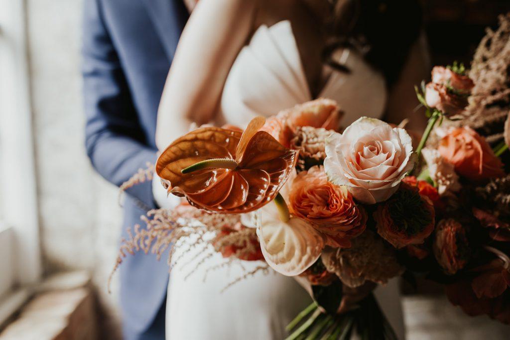 Anturium and rose bouquet by Nadia Di Tullio Flowers