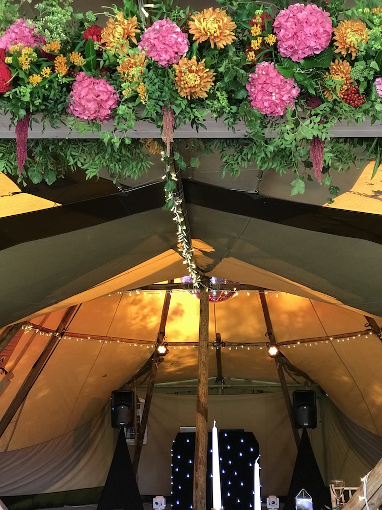 Hanging decor at Hidden Hive