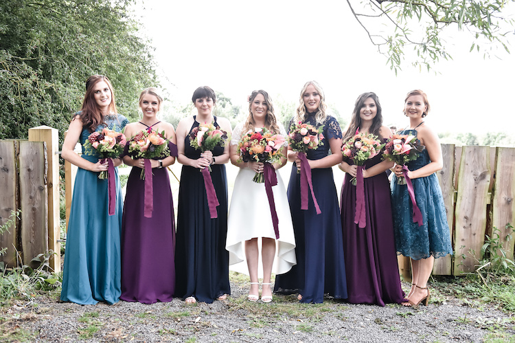 Nadia Di Tullio Bridal Party Flowers at the Hidden Hive